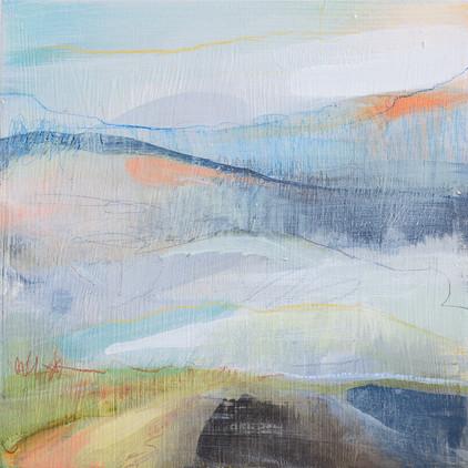 ON TRACK II, 20 X 20 cm, acrylic & mixed media on wood panel, £115