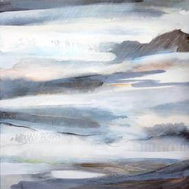 LUSTRE. 2019 56 x 56 cm, acrylic & mixed media on canvas  £500