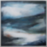 Forties Sea I, miranda carter, abstract, abstract painting, abstract art, abstract landscape, wall art, calming painting