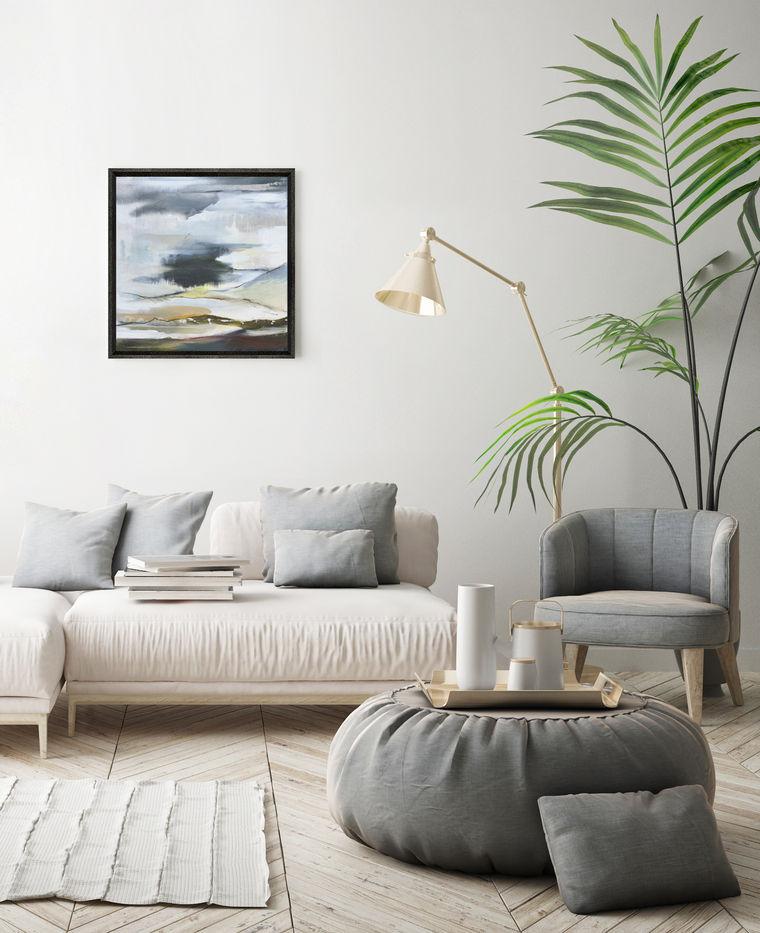 AFFINITY I. 2020 61 x 61 cm, acrylic & mixed media on canvas £600