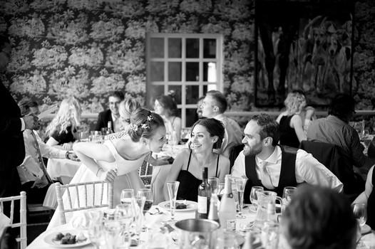 Laura & Simon Wedding Photos Black White