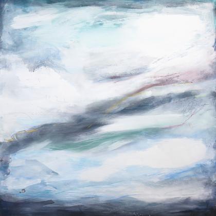 SOUL STORM. 2018 120 x 120 cm, acrylic & mixed media on canvas £1200