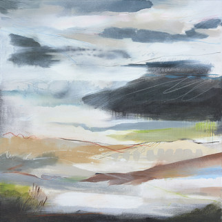 AFFINITY III. 2020 76 x 76 cm, acrylic & mixed media on canvas