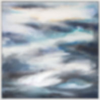 Storm Clearing, miranda carter, abstract, abstract painting, abstract art, abstract landscape, wall art, calming painting