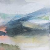 ON TRACK IV, 20 X 20 cm, acrylic & mixed media on wood panel, SOLD