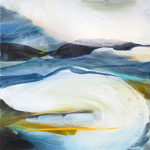 THROUGH. 2021 (NFS) 56 x 56 cm, acrylic & mixed media on canvas