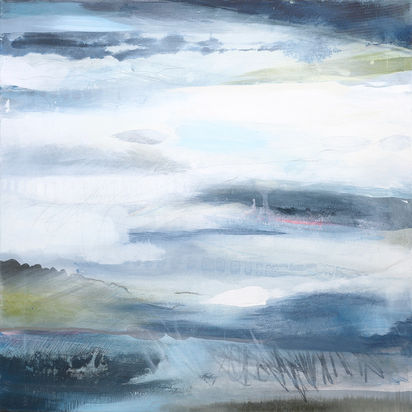 TRUST. 2020 70 x 70 cm, acrylic & mixed media on canvas £650