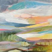 'May III', 20 x 20 cm, mixed media on wood panel, SOLD.