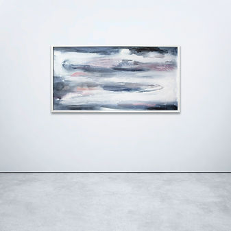 miranda Carter Halcyon Sea, Abstract painting, contemporary art, large canvas painting
