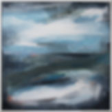 Forties Sea II, miranda carter, abstract, abstract painting, abstract art, abstract landscape, wall art, calming painting