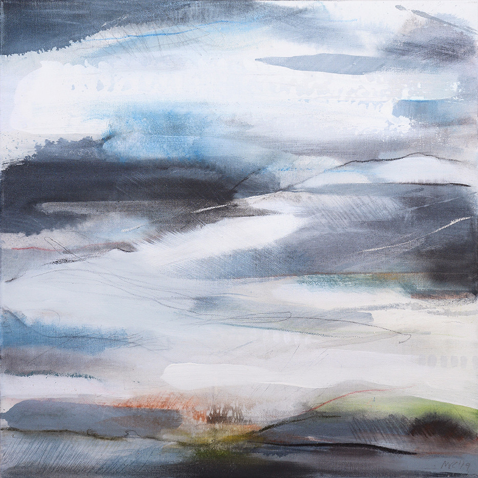 EQUINOX B. 2019 50 x 50 cm, acrylic & mixed media on canvas £450
