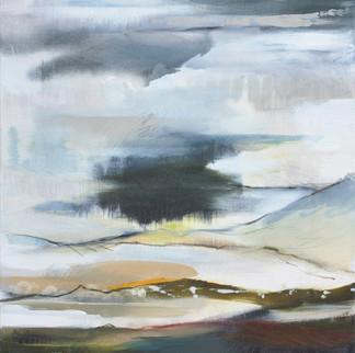 AFFINITY I. 2020 (SOLD) 61 x 61 cm, acrylic & mixed media on canvas
