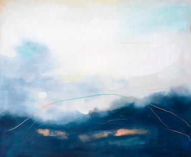 DIVIDED, 2020  110 x 130 cm, acrylic & mixed media on canvas  £1200