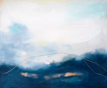 DIVIDED, 2020  110 x 130 cm, acrylic & mixed media on canvas