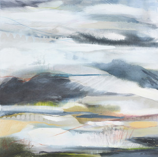 AFFINITY IV. 2020 (SOLD) 76 x 76 cm, acrylic & mixed media on canvas