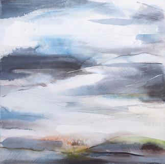 EQUINOX B. 2019 56 x 56 cm, acrylic & mixed media on canvas