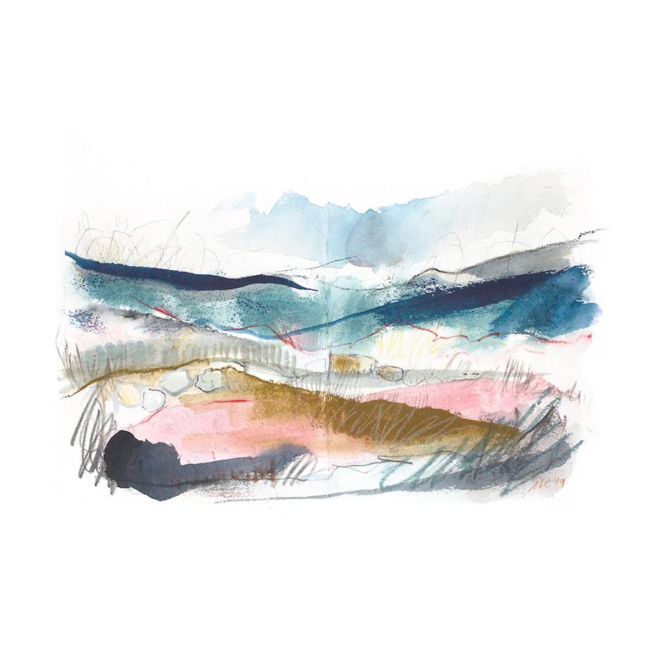 WINTER III. 2020 54 x 42 cm, charcoal, ink & pastel on paper Framed£270, unframed£200