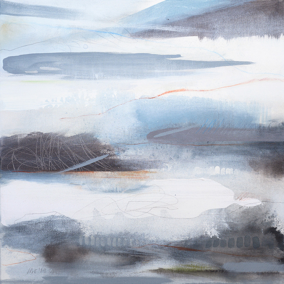 EQUINOX C. 2019 56 x 56 cm, acrylic & mixed media on canvas  £450