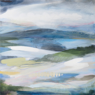 EARTH. 2020 95 x 95 cm, acrylic & mixed media on canvas