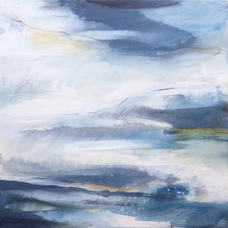 EUPHORY. 2020, 56 x 56 cm, acrylic & mixed media on canvas £500