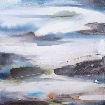 EQUINOX A. 2019 50 x 50 cm, acrylic & mixed media on canvas £450