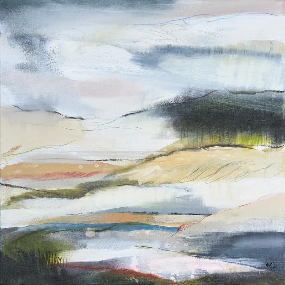 AFFINITY II. 2020 61 x 61 cm, acrylic & mixed media on canvas £600