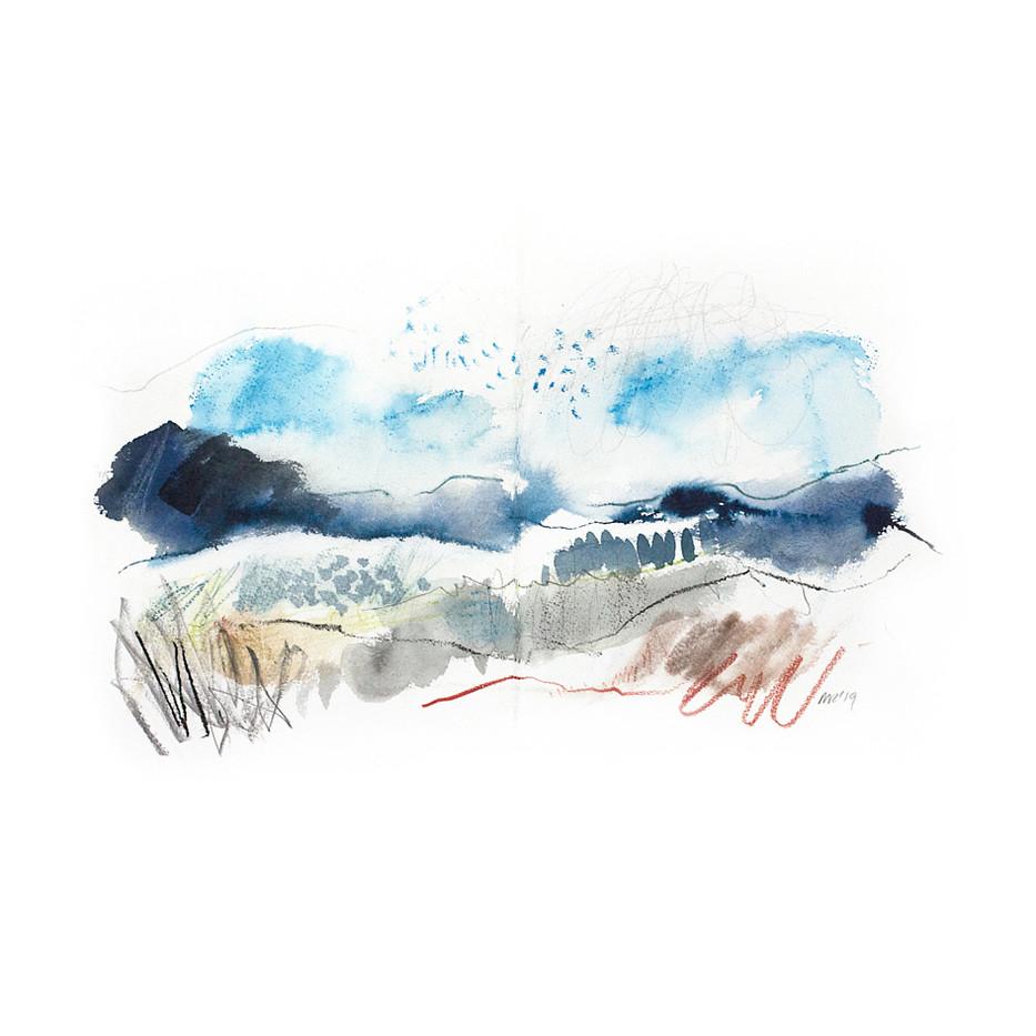 WINTER II. 2020 54 x 42 cm, charcoal, ink & pastel on paper Framed£270, unframed£200