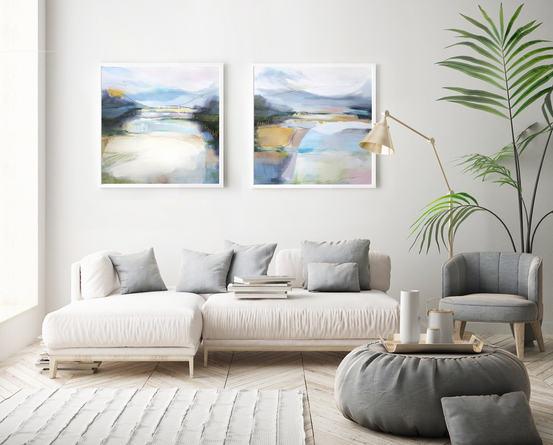ECHOES 2020. 100 x 100 cm, acrylic & mixed media on canvas