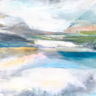 TAKING FLIGHT. 2020 (SOLD) 95 x 95 cm, acrylic & mixed media on canvas