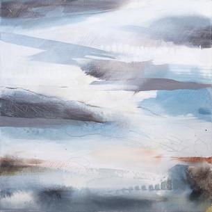 EQUINOX D. 2019 56 x 56 cm, acrylic & mixed media on canvas