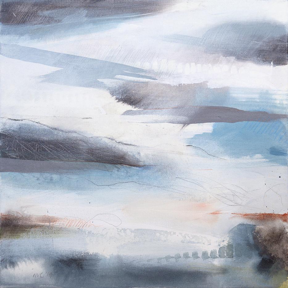 EQUINOX D. 2019 50 x 50 cm, acrylic & mixed media on canvas £450