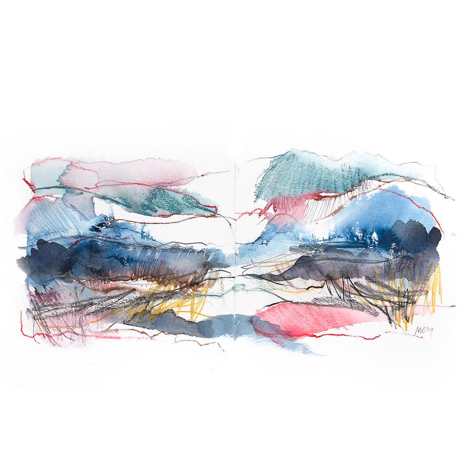 WINTER V. 2020 54 x 42 cm, charcoal, ink & pastel on paper. £300 (framed)