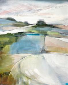 SHIFTING EDGES. 2020 (SOLD) 80 x 100 cm, acrylic & mixed media on canvas