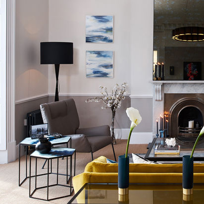 EUPHORY I & II 2020 50 x 50 cm, acrylic & mixed media on canvas £450 each