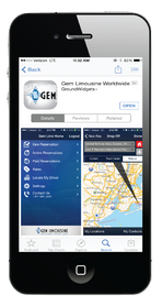 Global Chauffeured Transportation smartphone app booking