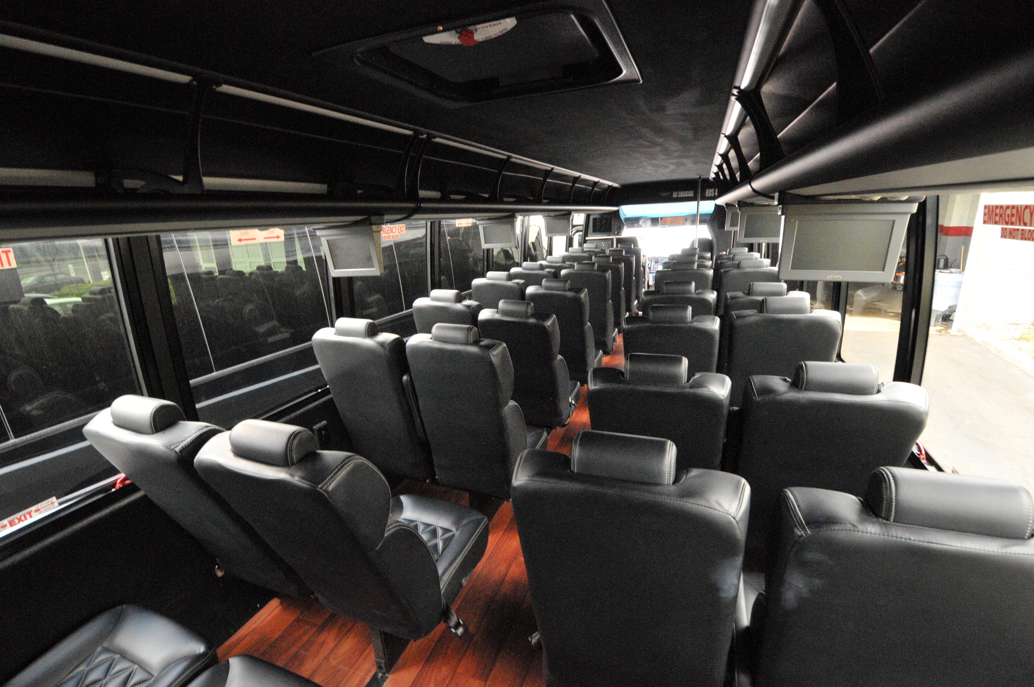 Minibus Service Interior Rear View