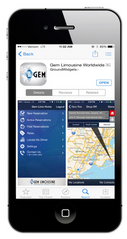 Gem Limousine Smartphone Application, Chauffeured transportation services, app based booking