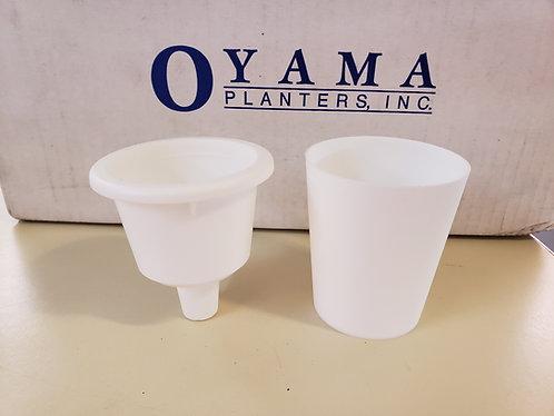 "1.5"" Oyama (TM) Self-Watering Planter-White"