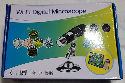 Digital Wireless (w/Built-In WiFi) Microscope - 1000x