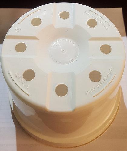 "6"" x 4.13"" Round Azalea Pot-White - 5 ct"
