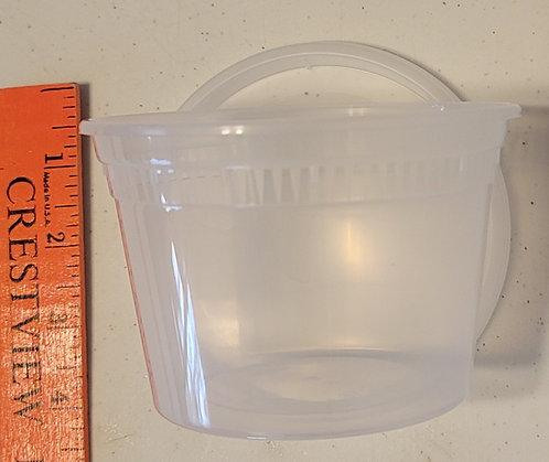 8oz Deli Container w/Lid/Tight Seal & Raised Edge - 10 ct