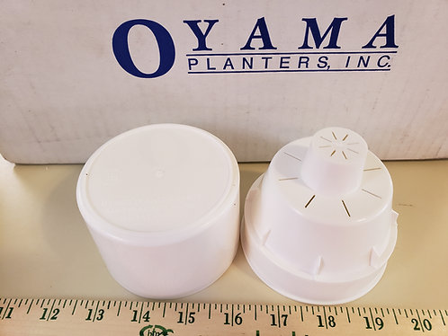 "3.5"" Oyama (TM) Self-Watering Planter-White"