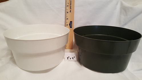 "8"" x 4"" Round Pan Pots-Green - 5 ct"