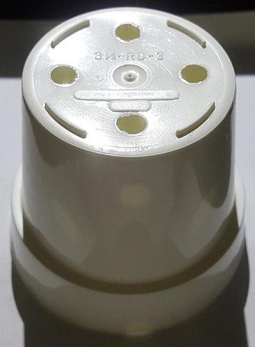 """3.5"""" x 2.75"""" Round Pots-White - 5 ct"""