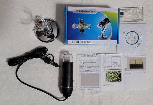Digital USB Microscope - 1600x w/3-way USB Connectors