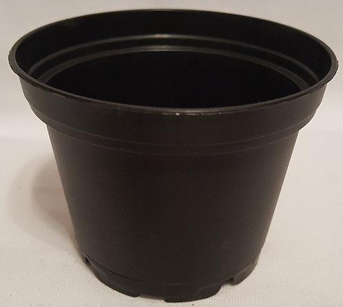 "2.35"" x 1.87"" Round Pots-Black 5 ct"