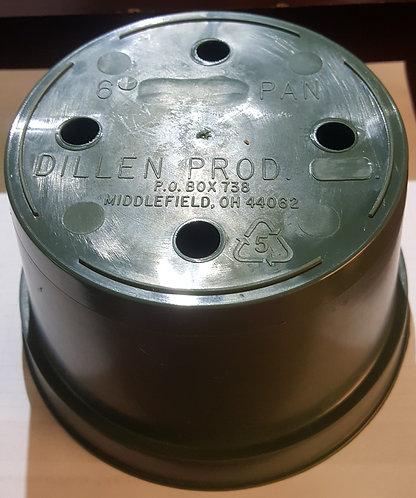 "6"" x 3.5"" Round Bulb Pan Pot-Green - 5 ct"