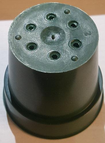 """2.5"""" x 2.25"""" Round Pots-Green - 5 ct"""