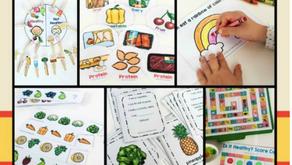 Juegos y actividades para promover buenos  hábitos de alimentación en niños