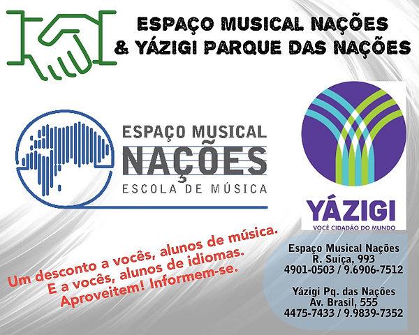 Parceria Espaço Musical Nações & Yázigi Parqu das Nações